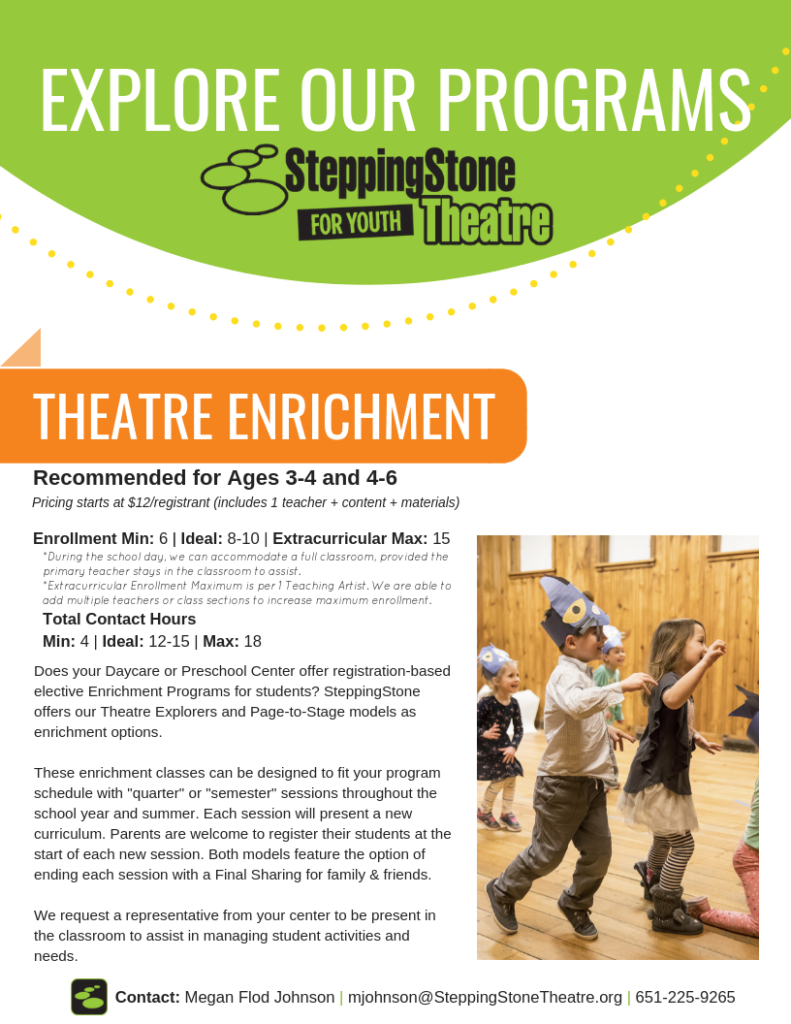 School and Community Connections | SteppingStone Theatre for
