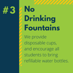 #3 No Drinking Fountains