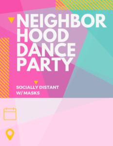 Neighborhood Dance Party Printable Flyer