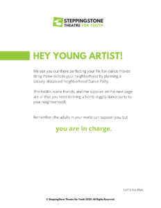 Letter to young artists designing a Neigborhood Dance Party